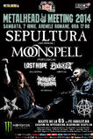 Sepultura si Moonspell in Romania la METALHEAD Meeting 2014
