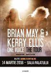 Brian May  chitaristul trupei Queen  in premiera in Romania, alaturi de Kerry Ellis