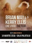 Brian May  chitaristul trupei Queen  in premiera in Romania, alaturi de Kerry Ellis