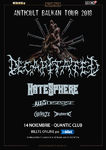 Concert Decapitated, Hatesphere si ThyDisease pe 14 Noiembrie in Quantic