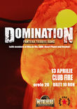 Afis Concert Domination, formatia tribut Pantera, in Fire Club