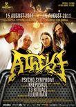 Afis ANULAT Concert Atheist in Club Fabrica din Bucuresti