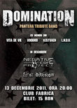 Afis Concert Domination (Pantera tribute band) in Club Fabrica