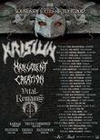 Concert Krisiun, Malevolent Creation si Vital Remains in club Fabrica