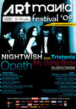 Afis Nightwish, Opeth, My Dying Bride si Tristania la ARTMANIA 2009