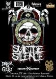 Afis Concert Suicide Silence, H8, Cap de Craniu  in Club Fabrica din Bucuresti