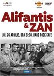 Concert Alifantis & ZAN pe 26 Aprilie la Hard Rock Cafe