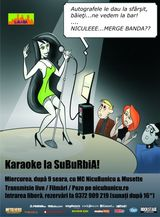 Seara de Karaoke in club Suburbia