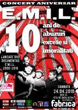 Amanat: Concert E.M.I.L. in Club Fabrica din Bucuresti