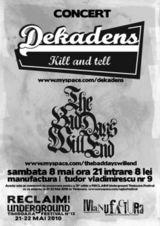 Concert Dekadens in Club Manufactura din Timisoara