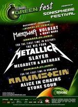 Programul pe zile pentru Tuborg Green Fest - Sonisphere Romania 2010