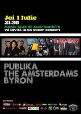 PubliKa, The Amsterdams si byron in Music Club Bucuresti