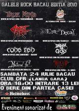 Galele Rock 2010 la Club CFR din Bacau