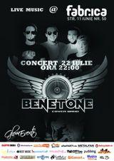 Concert Benetone in Club Fabrica din Bucuresti