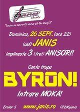 Concert byron in Club Janis Cluj