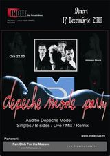 Ultimul party Depeche Mode din 2010 in Indie Club Bucuresti
