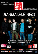 Concert Sarmalele Reci in Club A din Bucuresti