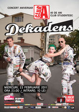 Concert Dekadens in Club A din Bucuresti