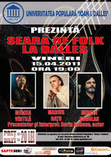 Seara de folk la Sala Dalles