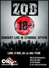 Concert Z.O.B. in studiourile CityFM