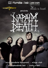 Concert Napalm Death in Wings Club Bucuresti