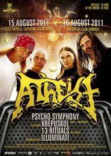 ANULAT Concert Atheist in Club Fabrica din Bucuresti
