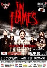 Concert In Flames la Arenele Romane din Bucuresti pe 1 octombrie 2011