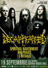 Concert Decapitated la Euphoria Music Hall din Cluj-Napoca