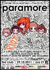 Concert tribut Paramore in Fire Club Bucuresti