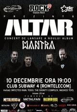 Concert de lansare album Altar in club Subway 4 din Bacau