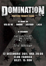 Concert Domination (Pantera tribute band) in Club Fabrica
