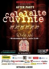 Afterparty Celelalte Cuvinte - 30 de ani in Jukebox Venue