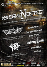 Concert Abnormyndeffect, 13Rituals si Open Fire in Iasi