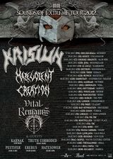 Concert Krisiun, Malevolent Creation si Vital Remains in club Fabrica