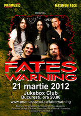 Concert Fates Warning in Jukebox Venue din Bucuresti!