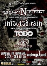 Concert Abnormyndeffect si Infected Rain la Iasi