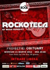 Proiectie OBITUARY la rockoteca cu Mihai Venedict in Iasi
