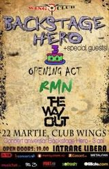 Concert aniversar Backstage Hero joi in Wings Club