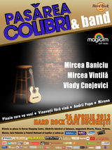Concert PASAREA COLIBRI in Hard Rock Cafe pe 26 aprilie