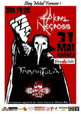 Concert Akral Necrosis, Tarantula si Conflict Mental in Fire club