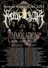 Poze cu Marduk si Immolation in concert la Fabrica