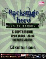 Backstage Hero: lansare videoclip 'Zile Si Nopti' la Back To School 3 in Kulturhaus Bucuresti
