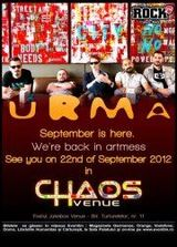 Urma: concert in Bucuresti in Chaos Venue
