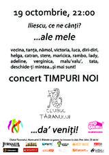 Timpuri Noi: Concert la Bucuresti