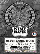 Concert Nine Eleven si Nevergoinghome in Underworld Club Bucuresti