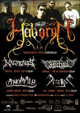 Concert Haboryn, Malpraxis, 13Rituals, Decease, Anomaly
