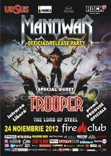 Official release party pentru noul album Manowar in Fire Club