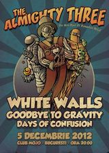 White Walls, Goodbye To Gravity si Days Of Confusion: Concert in Bucuresti in Mojo pe 19 decembrie
