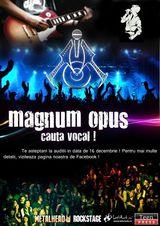 Preselectii: Magnum Opus cauta vocal