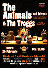 The Animals & The Troggs: Concert in Hard Rock Cafe pe 26 februarie